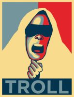 Troll obama poster by IamBonu