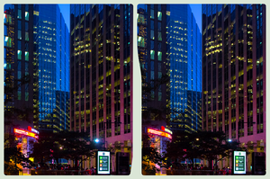 Blue Hour in Downtown Toronto 3-D ::: HDR CrossEye by zour