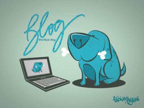 Meet Blog - The Blue Dog by fabiomayumi