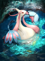 Milotic by marucoboolo