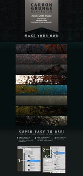 Carbon Grunge Background Texture Generator by ramijames