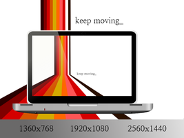Keep Moving v.2 Scarlet by StockThis-StockThat