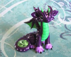 Purple and Green Gem Dragon by DragonsAndBeasties