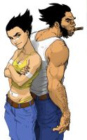 Logan and Navis by B-1ne