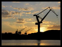 Gothenburg cranes by nordstrom
