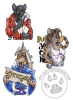 MFM badges by lady-cybercat