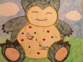 Snorlax for Cry and Pewdie :) by Aesdala