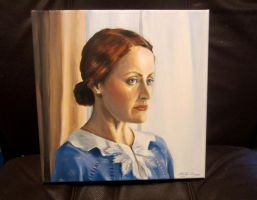 Miss Lemon - acrylic on canvas (Poirot) by auggie101
