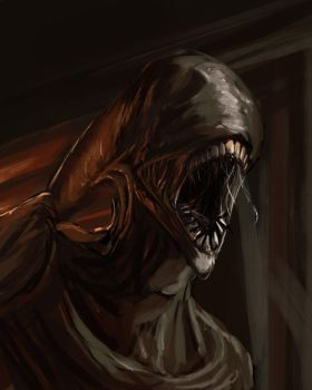 May sketch a day - Xenomorph by Konnee