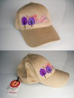 embroidery cap purple trees by una-dani