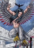 Harpy Sketch Card - Classic Mythology II by tonyperna
