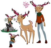 Chocolate Raspberry deer by TheLittlehoneybee
