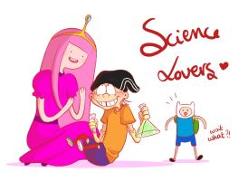 Cartoon Crossover #1 Science Lovers by ChibiStarProductions