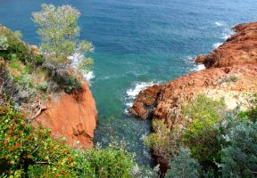 Red Mediterranian Cliff by Dieffi