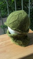 Green Dragonscale Hat/Cowl Set by aetherfang