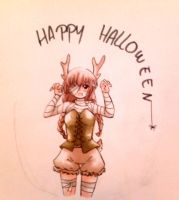 A very late Happy Halloween... by claire-pouette