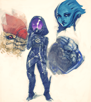 Mass effect 3 doodles by pu