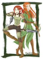 Tallis and Tauriel by Mossygator