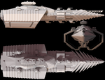 Capitol Hydra class Cruiser by Flavoredpickle