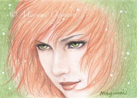 Bronze Beauty (ACEO) - sketch by MayumiOgihara