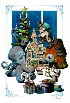 otto's first christmas by BrianKesinger