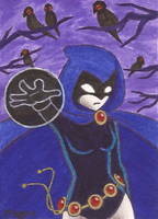 Art Card 12 - Raven by VickyViolet