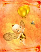 ::Baby Birthday Bee:: by JunkbyJen