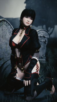 Gothic Ayane (Portrait) by Chrissy-Tee