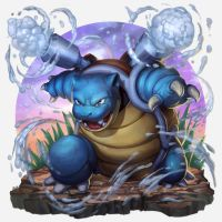 Blastoise Pokedex Chile Project by Brolo