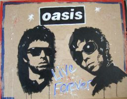 Oasis Live Forever by Mazzi294