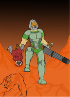 Doom Tribute WIP by BLITZFenix