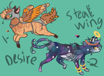 Fantasy Mix Animal Adopts {ALL CLOSED} by chocovanillaswirl