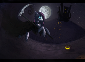 Pinkamena as a dark reaper by Vongrell