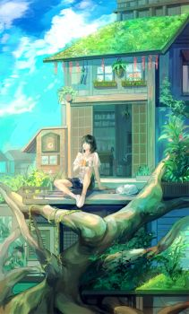 Tree House by LareOne