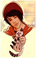 A boy and a cat by whoalisaa