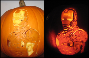 Iron Man Pumpkin by SmallChild3