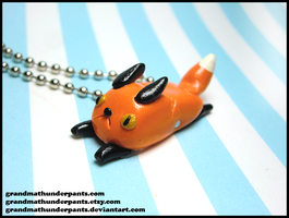 Flat Foxpuff Necklace by GrandmaThunderpants