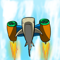 Shark With Jet Engines On It by Ezlakh