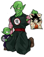 Home schooled - Piccolo Sr. and  Piccolo Jr. by TheBombDiggity666