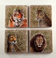 Big Cat Coasters by TumblingTortoises