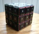 Qwerty-Cube by graphicpoetry