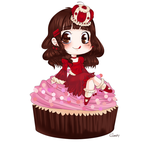 Cherry Cupcake Princess by Otp