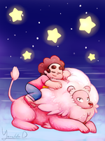 Steven and Lion by Yereren