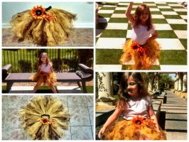 Sunflower Tutu Collage by MaiseDesigns