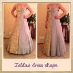 Zelda's dress shape by Miharichu-Emi