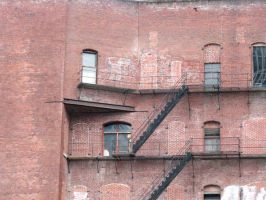 Old Brick Building Stock by thiselectricheart