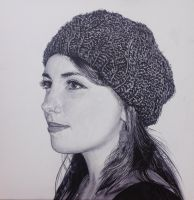 Girl in Knitwear Hat by pnmunoz