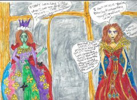 Princess Mombi and Zelena by RosePainting