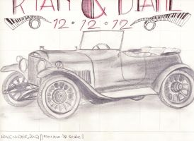 1920's auto (sketch) by trytocallithome