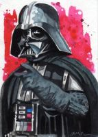 Darth Vader Sketch Card by Straycatstudio